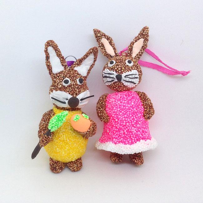 Spielwaren-Kroell, Woleknschleim, Foam Clay, Basteln mit Kindern, Ostern, Knete, Osterdeko, Easter, DIY