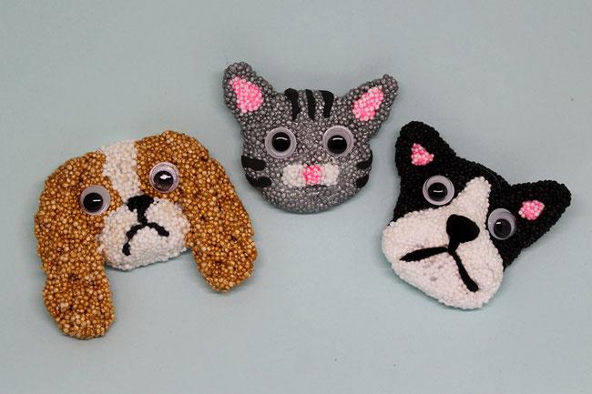 Foam Clay, Wolkenschleim, Magnete Hunde & Katze