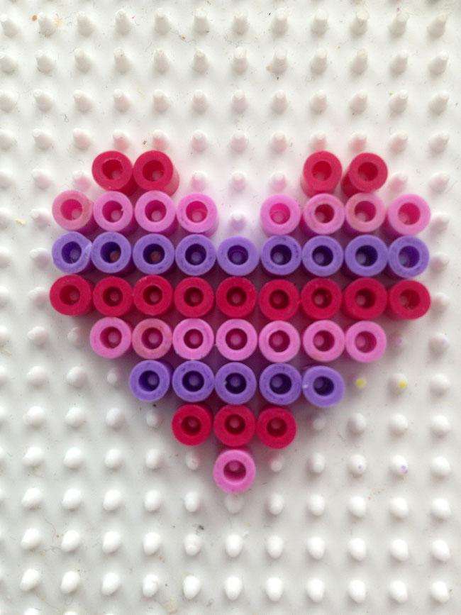 Hama Bügelperlen: Herz