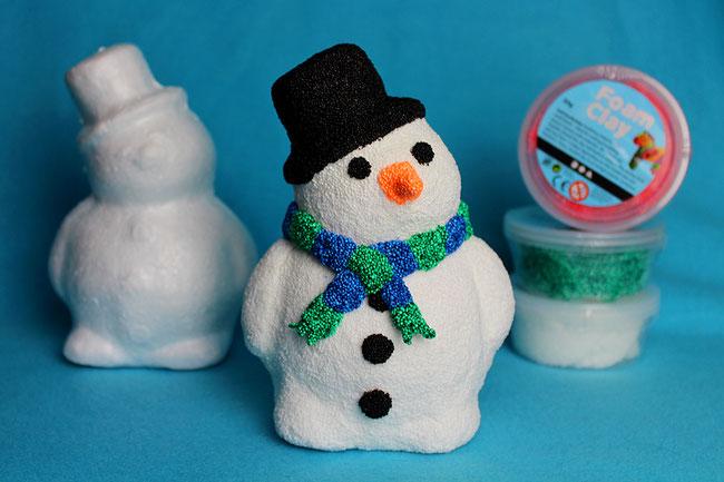 Foam Clay, Wolkenschleim, Knetmasse, Weihnachtsdeko, basteln, Weihnachten, DIY, Xmas