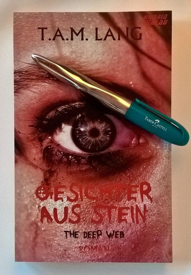 """Rezension """"Gesichter aus Stein"""" von T.AM. Lang"""