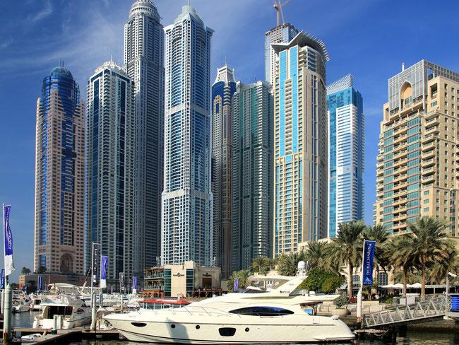 Widok na Dubai Marina