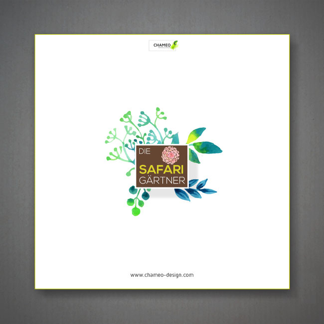 Logo design for an online shop for garden plants & flowers