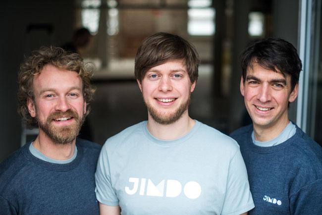 Jimdo's founders Fridtjof Detzner, Christian Springub, and Matthias Henze