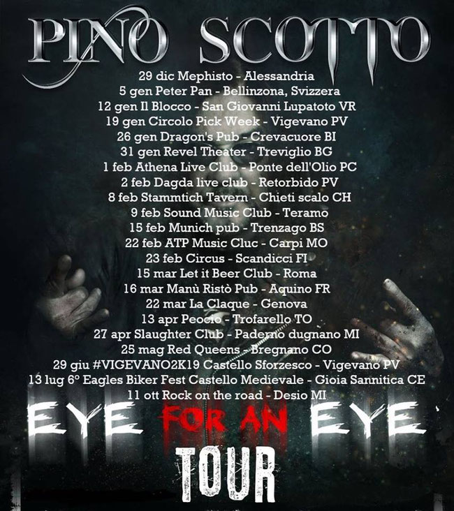 Eye For An Eye Tour, Pino Scotto, Rockers and  other animals