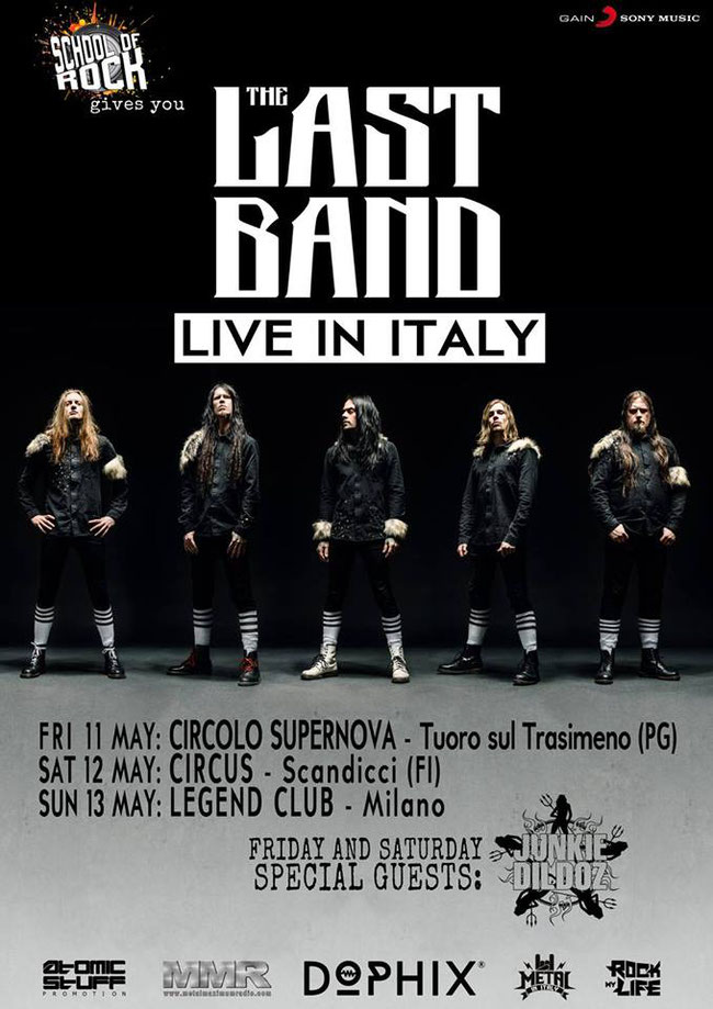 The Last Band three headline gigs in Italy In May