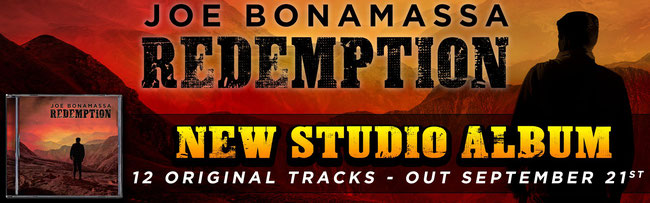 "Joe Bonamassa: the new album ""Redemption"" in pre-order"