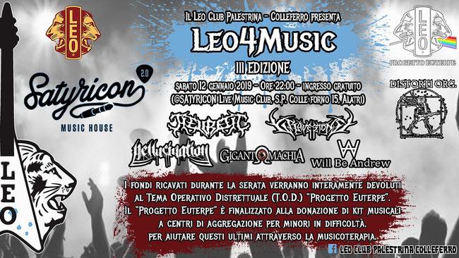 """""""Leo4Music"""" - III Edizione, concerto di beneficenza per """"Progetto Euterpe"""""""