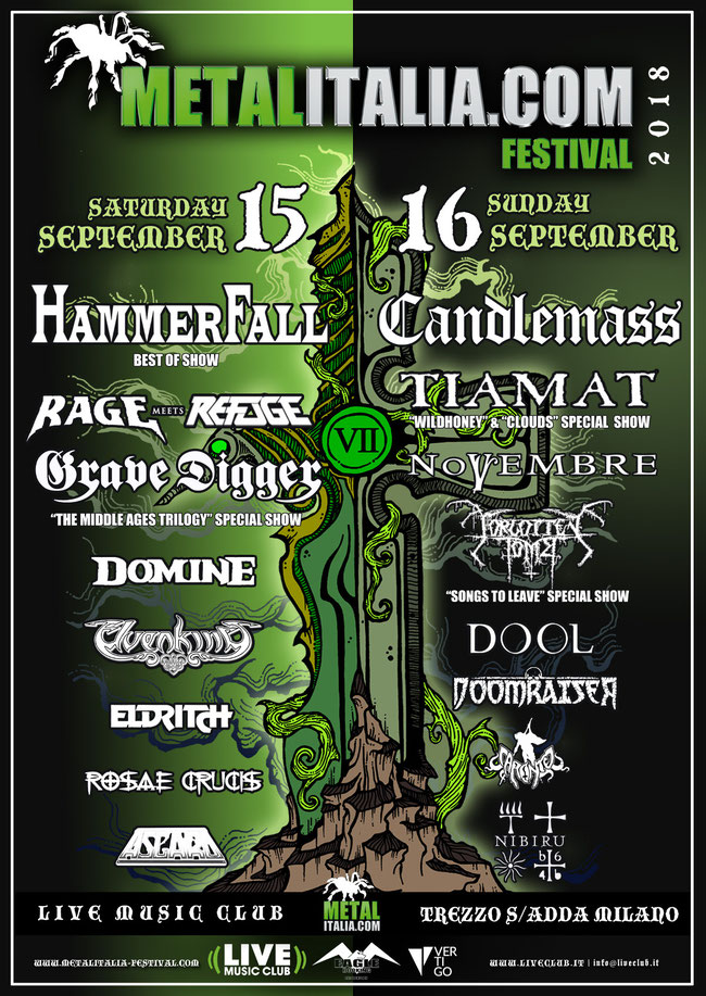 Metalitalia.com, Eagle Booking Live Promotion and Vertigo are proud to finally present you the program for this year's Metalitalia.com Festival.