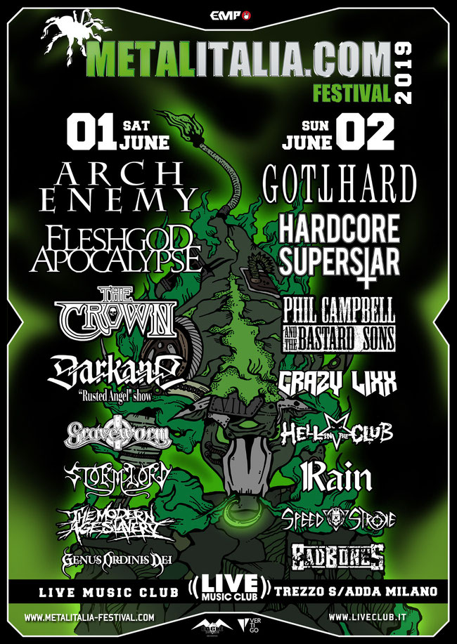 Metalitalia Festival 2019, Line-Up, Vertigo, Eagle Booking Live Promotion,