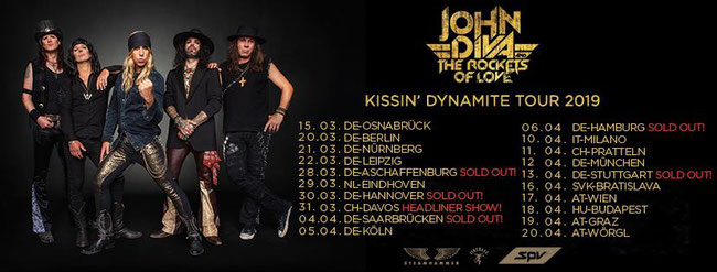 John Diva & The Rockets Of Love, new video, Blinded, Rockers And Other Animals, Rock News, Kissin' Dynamite Tour 2019, Rock Magazine, Rock Webzine,