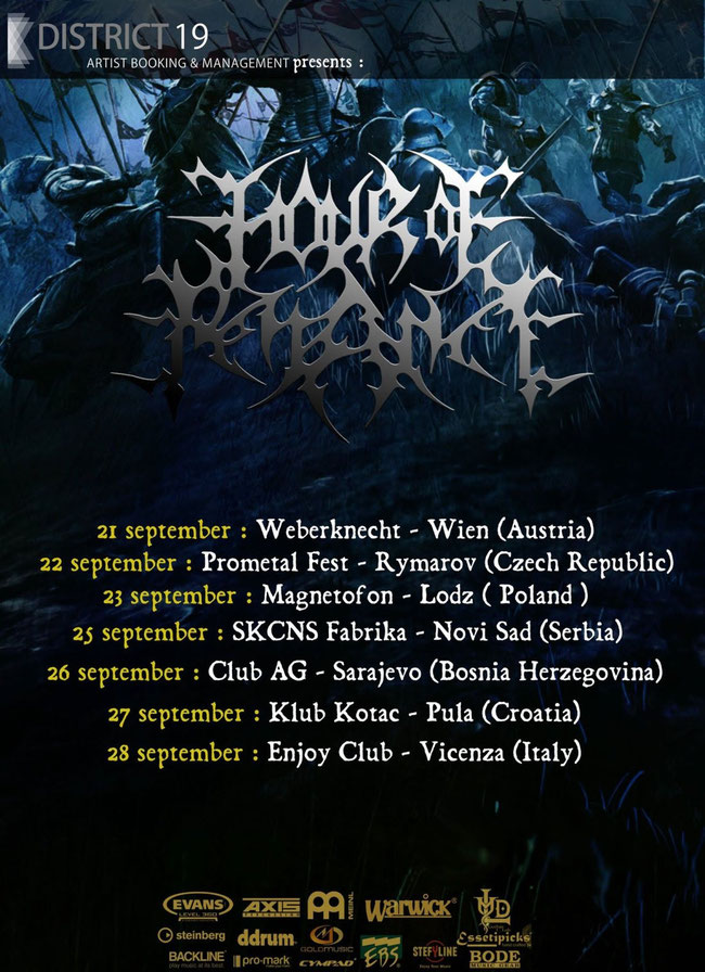 HOUR OF PENANCE: Italian death metallers announce new European tour dates!
