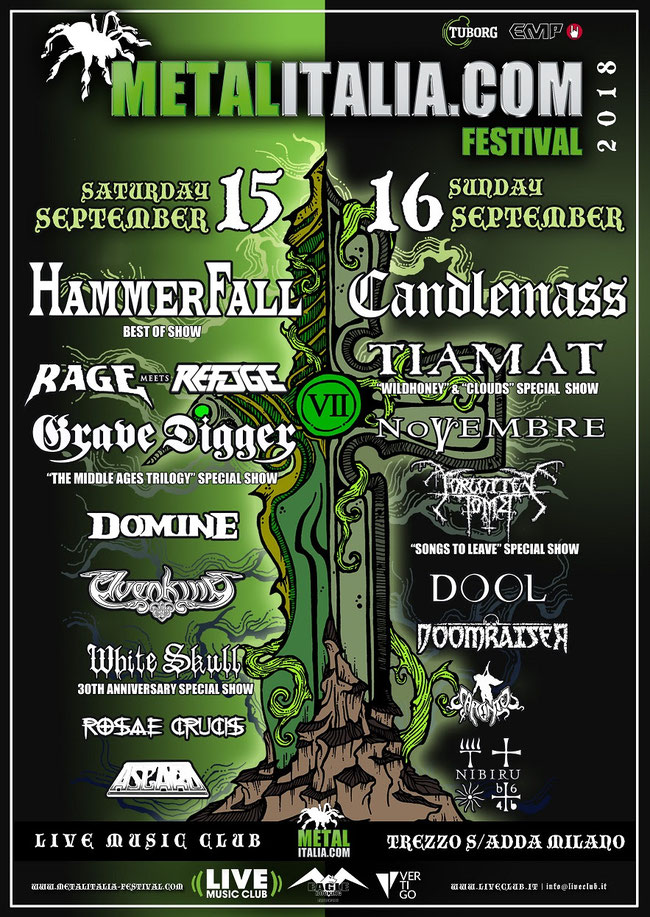 METALITALIA.COM FEST 2018: ELDRITCH forced to cancel, WHITE SKULL step in!