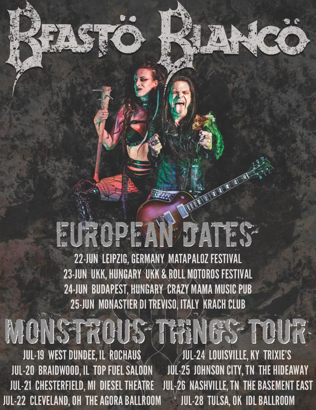 Beasto Blanco, European tour, a show in Italy!