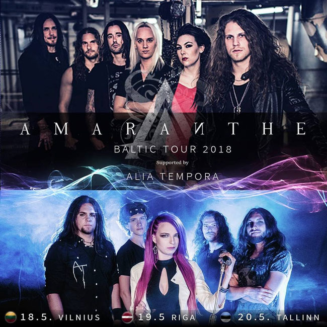 ALIA TEMPORA on tour with AMARANTHE