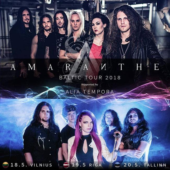 ALIA TEMPORA on tour with AMARANTHE