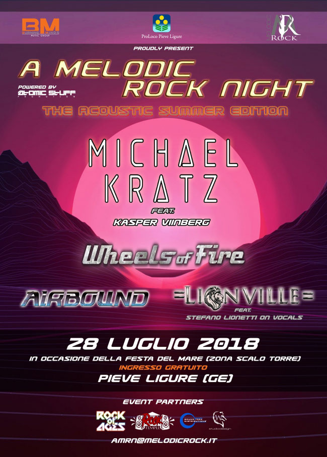 A MELODIC ROCK NIGHT 2:  DETAILS OF THE 'ACOUSTIC SUMMER EDITION' UNVEILED
