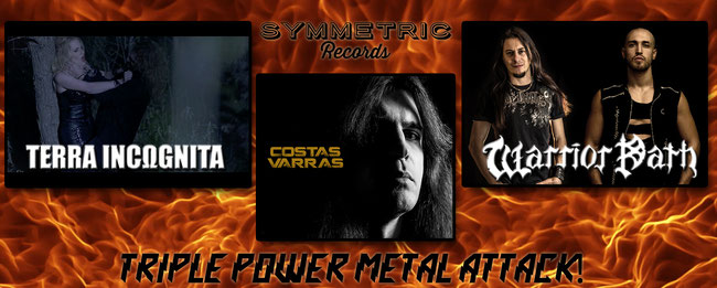 """TRIPLE POWER-METAL ATTACK FROM SYMMETRIC RECORDS!"""