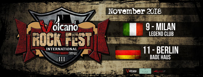 The Volcano Rock Fest becomes International: two dates announced in Italy and Germany