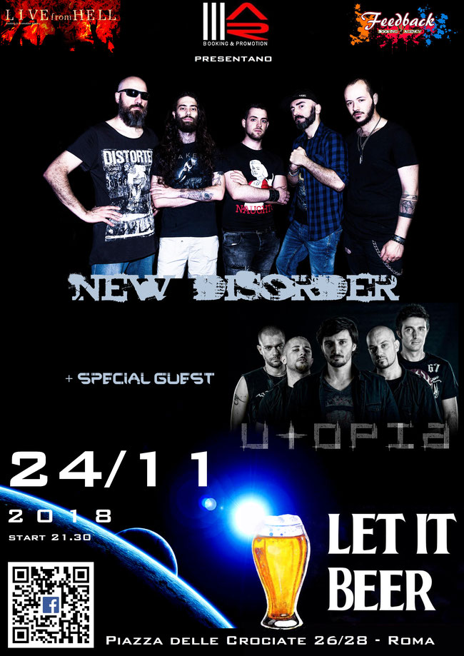 New Disorder: live in Rome on November 24 with Utopia special guest!