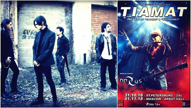 Italian Goth Rockers Nexus confirmed as special guest of Tiamat