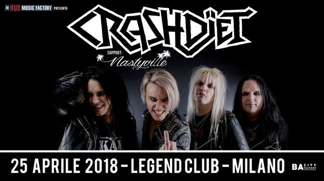 NASTYVILLE, Legend Club, CRASHDIET