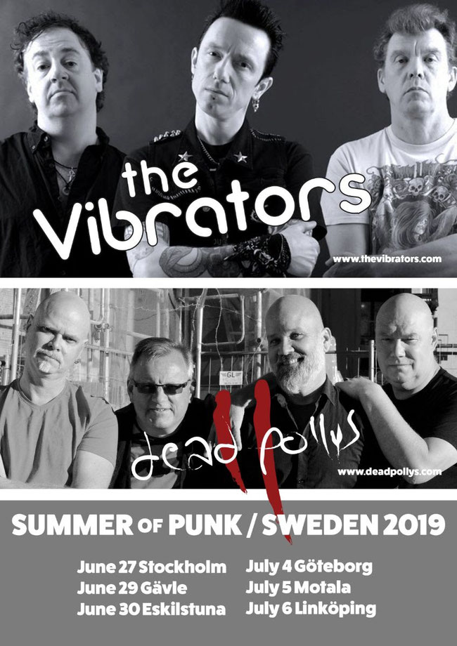Dead Pollys,  Summer Of Punk, Sweden, 2019, Tour, The Vibrators, Rockers And Other Animals, Rock News, Rock Magazine, Rock Webzine