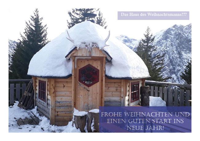 Brandnertal in Vorarlberg, Weihnachtsgrüße FeWo Zimbablick, Bürserberg