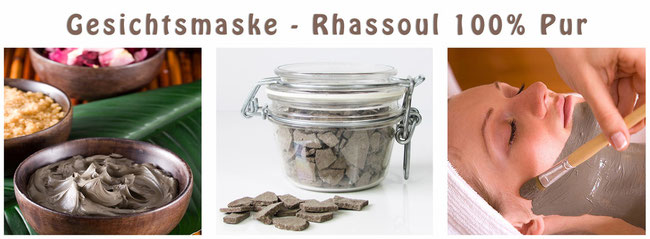 Naturkosmetik Gesichtsmaske Rhassoul Rassoul Ghassoul pur Sens du Sud Casa Mina Design
