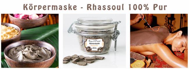 Naturkosmetik Rhassoul Rassoul Ghassoul 100% pur Körpermaske Sens du Sud