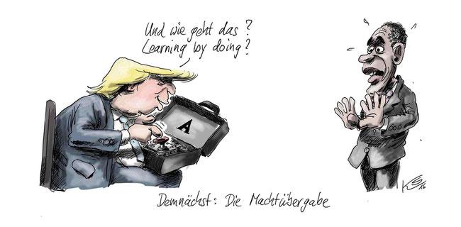 tagesspiegel - Karikaturen von Stuttmann und Schwalme