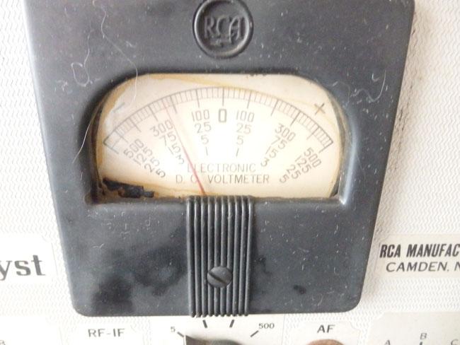 RCAライダーチャナリスト162-Cテスト機器  メーター