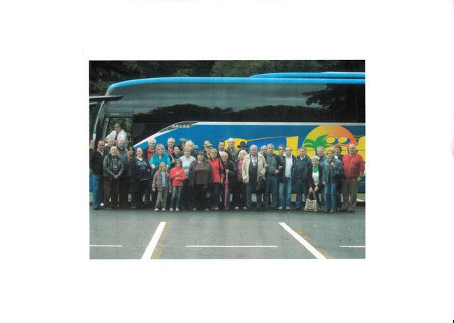 Die Teilnehmer des Ausflugs 2013 ins Wispertal