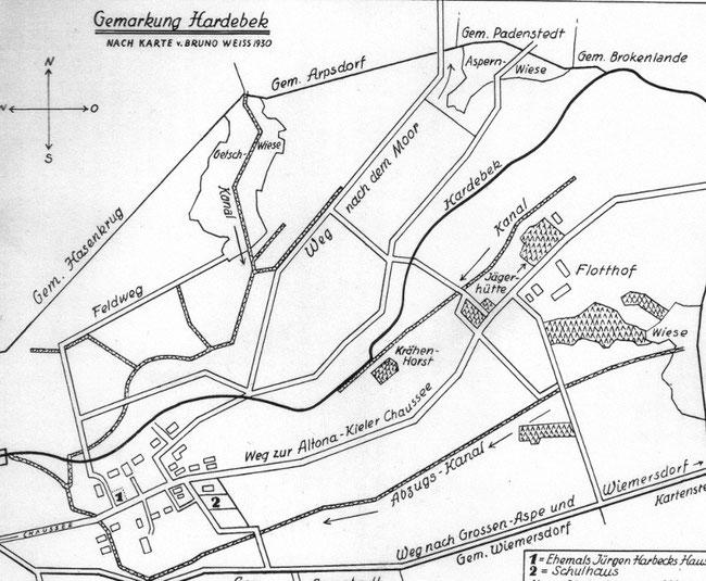 Gemarkung Hardebek 1930