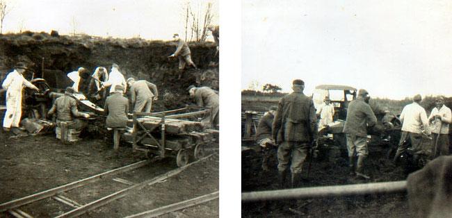 Gemeinschaftsarbeit im Torfmoor