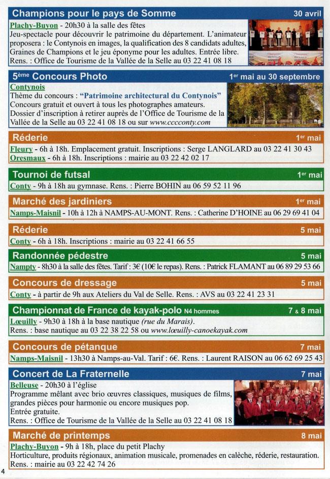 Soirée de Plachy-Buyon - Agenda CC Contynois page intérieure - Avril 2016