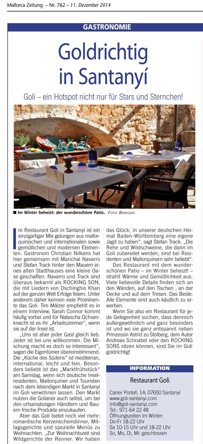 Quelle: Mallorca Zeitung 11.12.2014