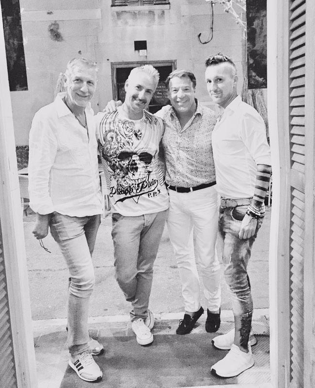 Peter Schäfer (Management Patrick Lindner), Stefan Track (Dschinghis Khan), Patrick Lindner, Marichal Navarro (Management Dschinghis Khan)