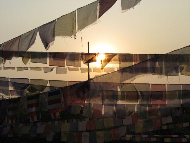 Sonnenuntergang am Tempel