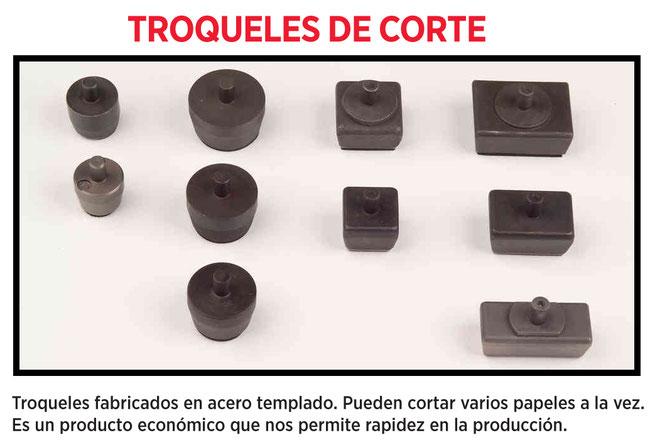 precio desde 26€-57,50€/ud + IVA LOS TROQUELES CUADRADOS Y RECTANGULARES YA NO SE FABRICAN, FUERA DE STOCK. PEDIR MATRIZ DE CORTE