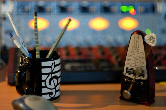 Musikproduktion in gemütlicher Athmosphäre