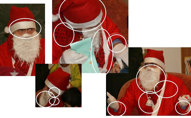Falscher Nikolaus und dazu falsch angezogen. Leider Note 6!