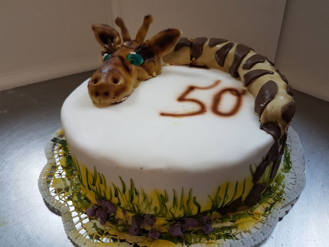 Geburtstagstorte als Giraffe