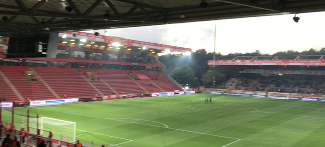Stadion an der Alten Försterei, Block V, eingesendet von Daniel (via Mail).