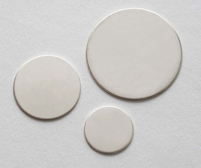Silberscheiben individuell beschriftbar