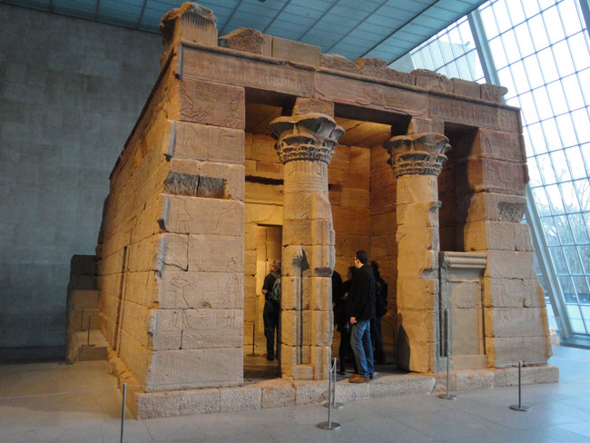 The Egyptian temple in the Metropolitan Museum of Art in New York.