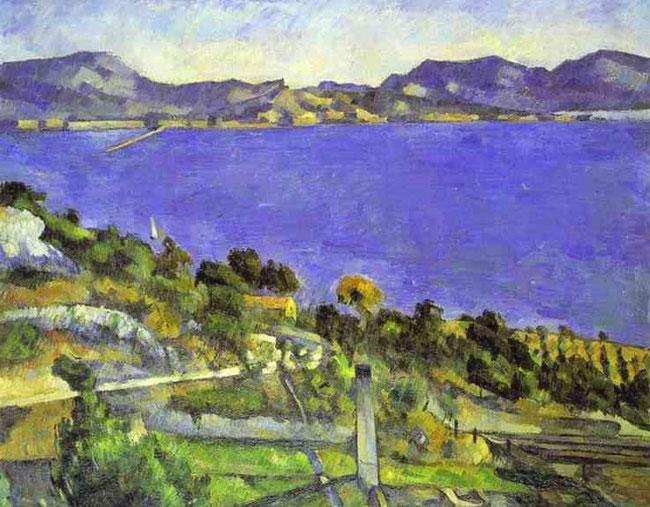 Paul Cézanne - L'Estaque 1882-1885. Olio su tela.