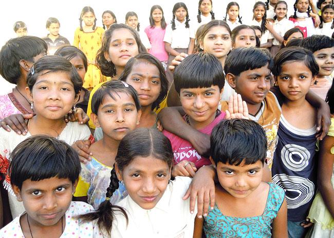 AIC-Japanが支援している地区のインドの子どもたち