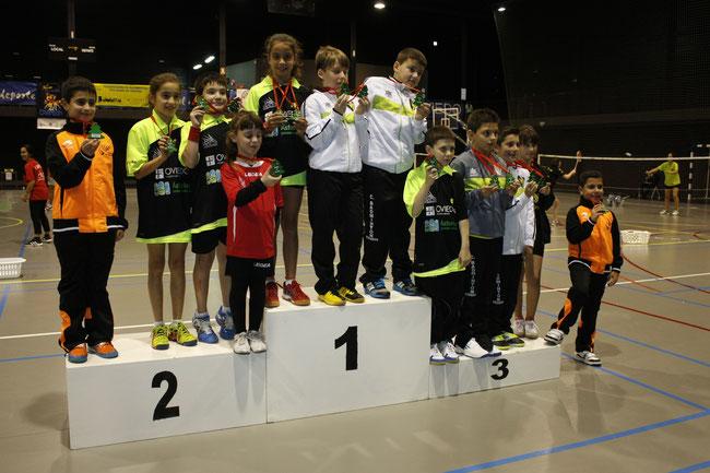 Los medallistas en S11