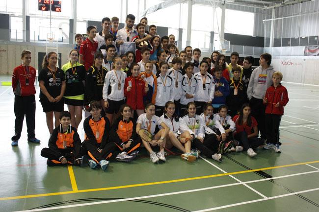 Jugadores premiados en el Torneo Internacional de Gijón Master S13-S17.
